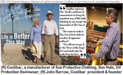 Coolibar & founder John Barrow condemned by Nation of Light (Yakub Islam)