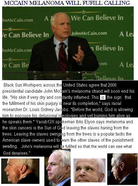 McCain Melanoma Worsens