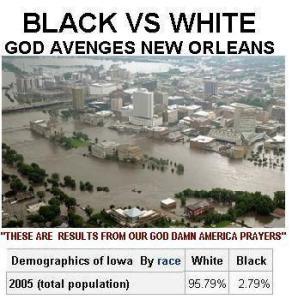 God Avenges New Orleans, God Damn White America Movement