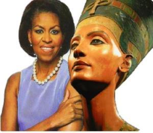 Michelle Obama & Queen Nefertiti