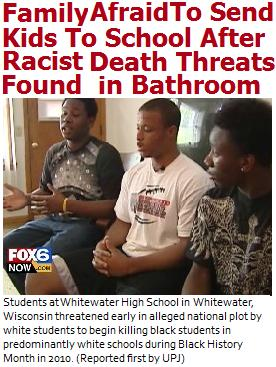 Anti Black, Racist Cult of White Teenage Students Emerges in Racist Whitewater, Wisconsin