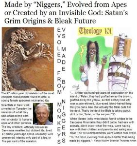Made by Niggers VS Evolved from Apes: Satan's Grim Origins & Bleak Future