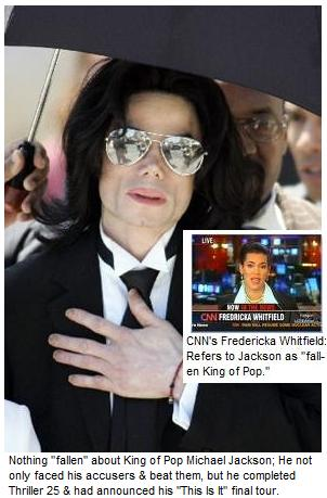 "Nothing ""fallen"" about King of Pop Michael Jackson"
