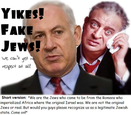 Netanyahu: Please recognize us as a legitimate Jewish state! Come on! (Featuring Rodney Dangerfield: I can't get no respect at all)