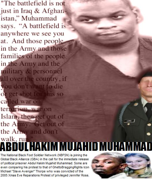 "Abdulhakim Mujahid Muhammad & Savannah Legend Michael ""Slave Avenger"" Thorpe:  On the battlefield for my Lord;"
