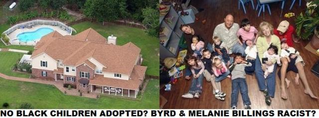 "Byrd and Melanie Billings Racists: No Black Children Adopted; Florida Black Foot Soldiers BLAST ""Good Hearted"" Couple"