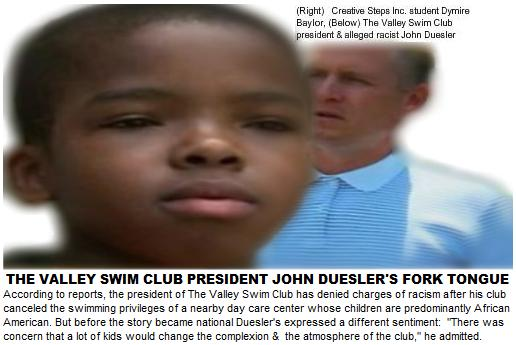 Valley Swim Club President & Piece of Shit John Duesler Denies Racism