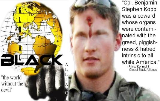 Global Black Alliance condemn Corporal Benjamin Stephen Kopp