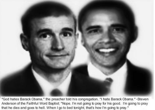 Pastor Stephen Anderson: God Hates Barack Obama
