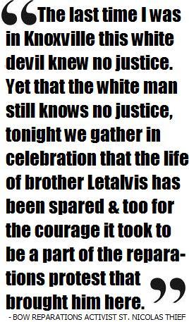 St. Nicolas Thief, Celebrates Letalvis Cobbins Victory