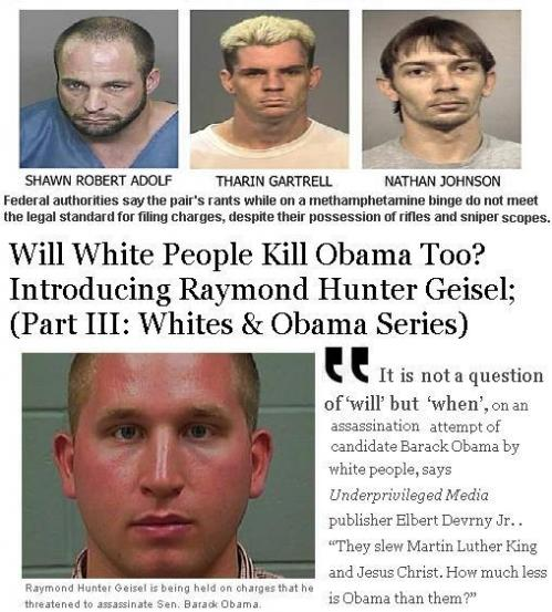 """God hates Barack Obama,"" the preacher told his congregation. ""I hate Barack Obama.""  (Will white people kill Obama too? part VI) UnderprivilegedJournalism"