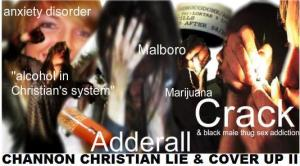 (Lemaricus Trial) Channon Christian & Christopher Newsom Keyword Index: Anxiety Disorder, Adderall, Marijuana, Hydrocodone, Amphetamines, Alcohol, Crack & Black Thug Sex Addiction?